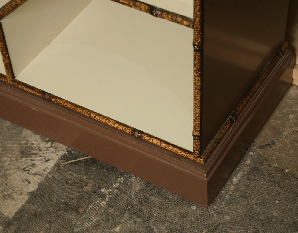 Forties Inspired Bamboo Lacquered Cabinet 7