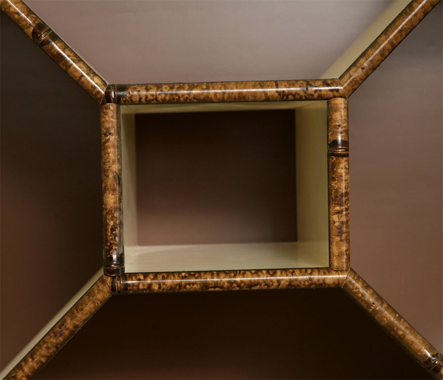Forties Inspired Bamboo Lacquered Cabinet 9