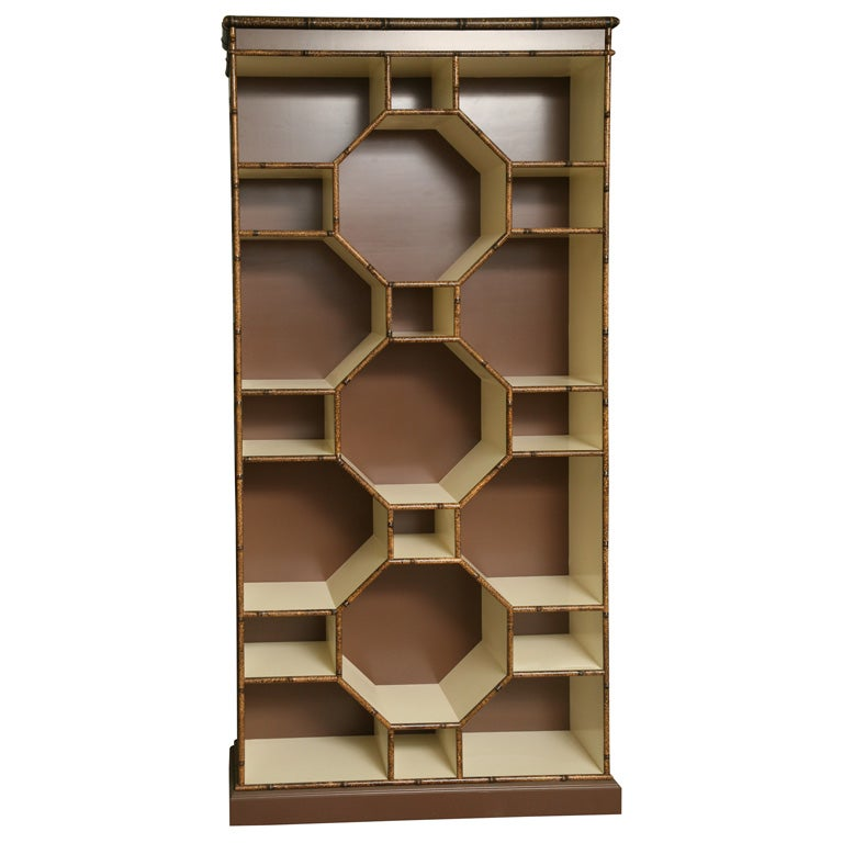 Forties Inspired Bamboo Lacquered Cabinet 1