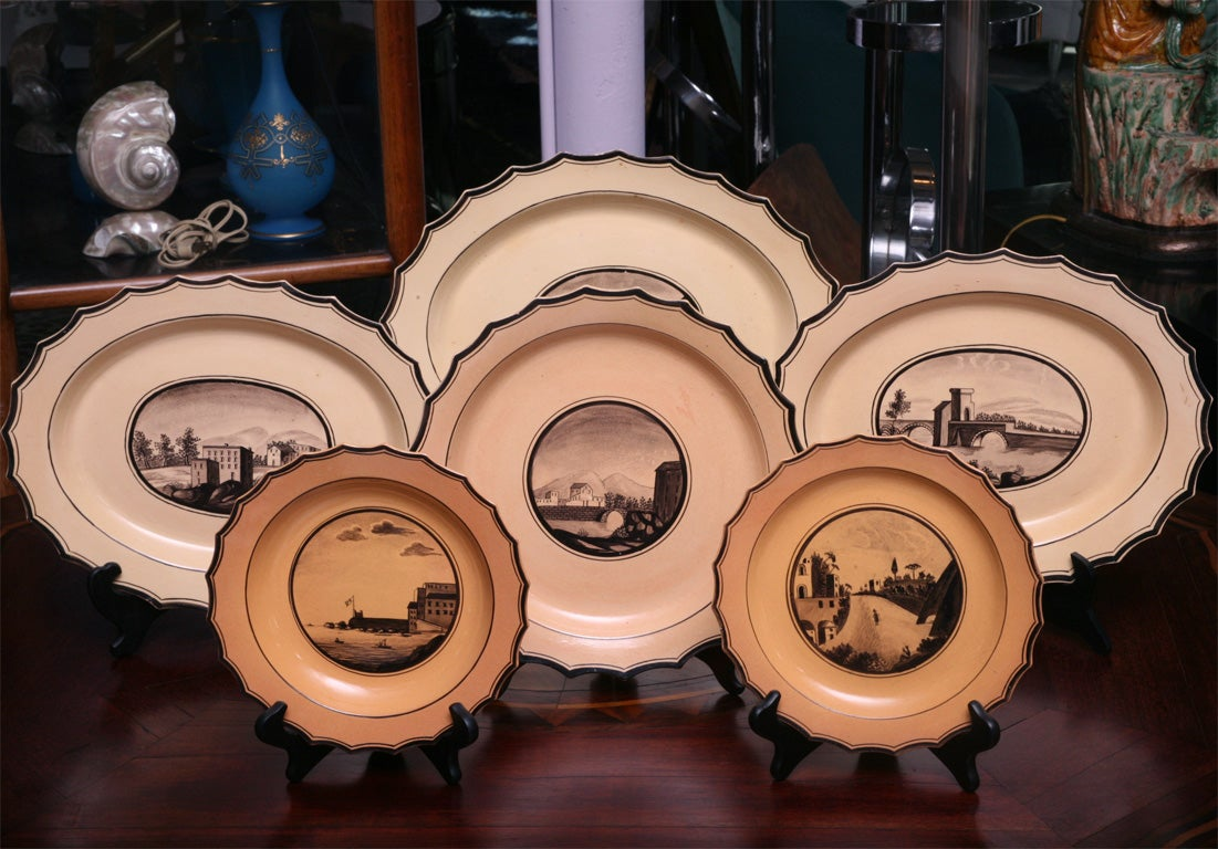 Set of Six  Neoclassical Neapolitan Plates 2