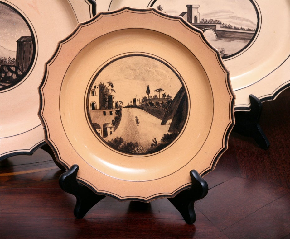 Set of Six  Neoclassical Neapolitan Plates 4