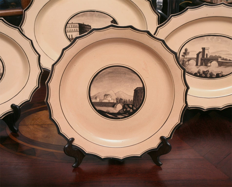Set of Six  Neoclassical Neapolitan Plates 5