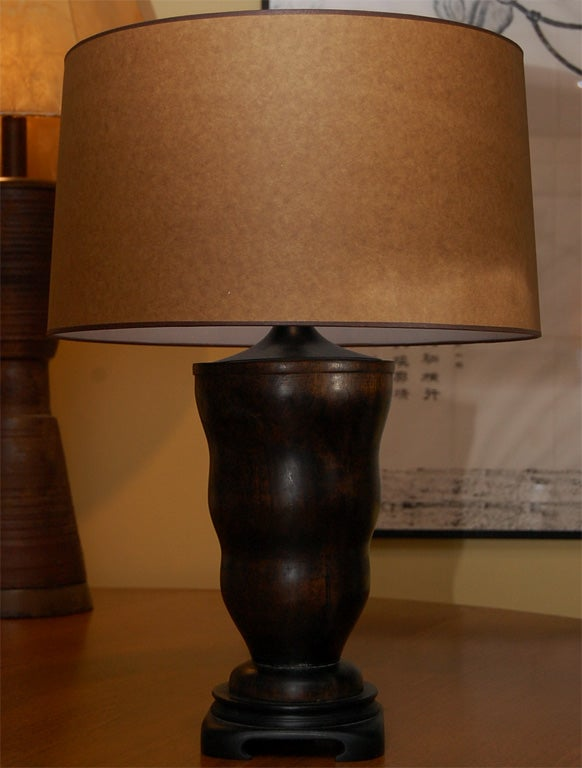 pair of wooden table lamps for sale at 1stdibs. Black Bedroom Furniture Sets. Home Design Ideas