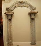 Large Arched Polychrome Door Frame image 2