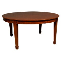 "Vintage Mahogany Dining Table - 64"" Round"