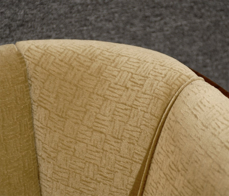 Swedish Art Deco Birch And Satinwood Sofa In Donghia Wool