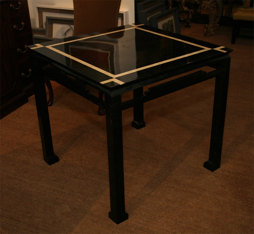 Chinese Style Inlaid Marble Square Center Table At 1stdibs