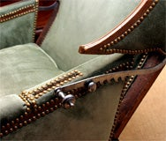 Louis XV carved walnut reclining wing chair, c.1750 image 9
