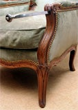Louis XV carved walnut reclining wing chair, c.1750 image 10