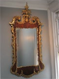 George II Antique Parcel-Gilt Mirror, English/Irish c.1750 image 2