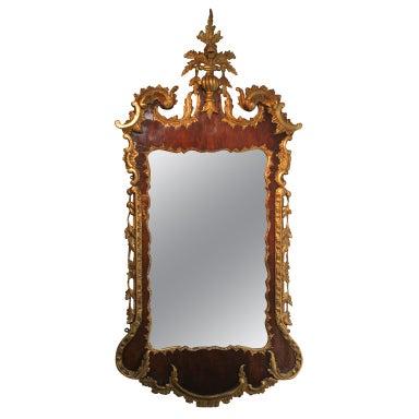 George II Antique Parcel-Gilt Mirror, English/Irish c.1750