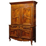 19th Century French Walnut Buffet a Deux Corps