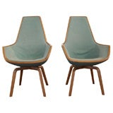 Pair of Giraffe Chairs by Arne Jacobsen