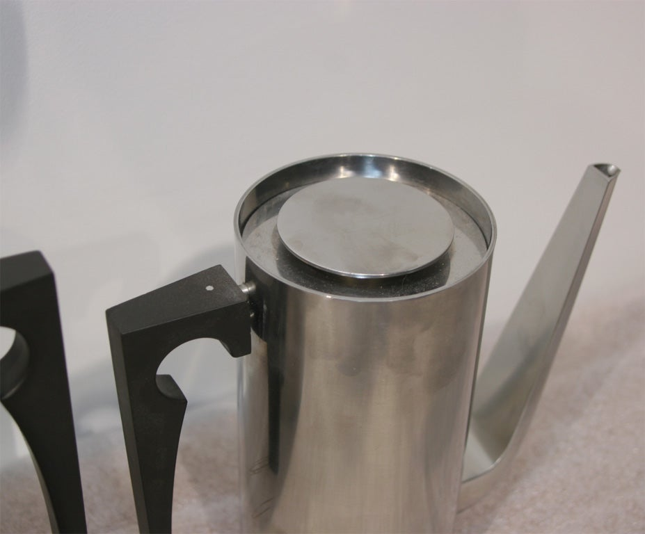 Cylinda Small And Large Coffee Pot At 1stdibs