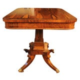 Regency Brass Inlaid Rosewood Side Table
