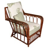 Stick Wicker Arm Chair
