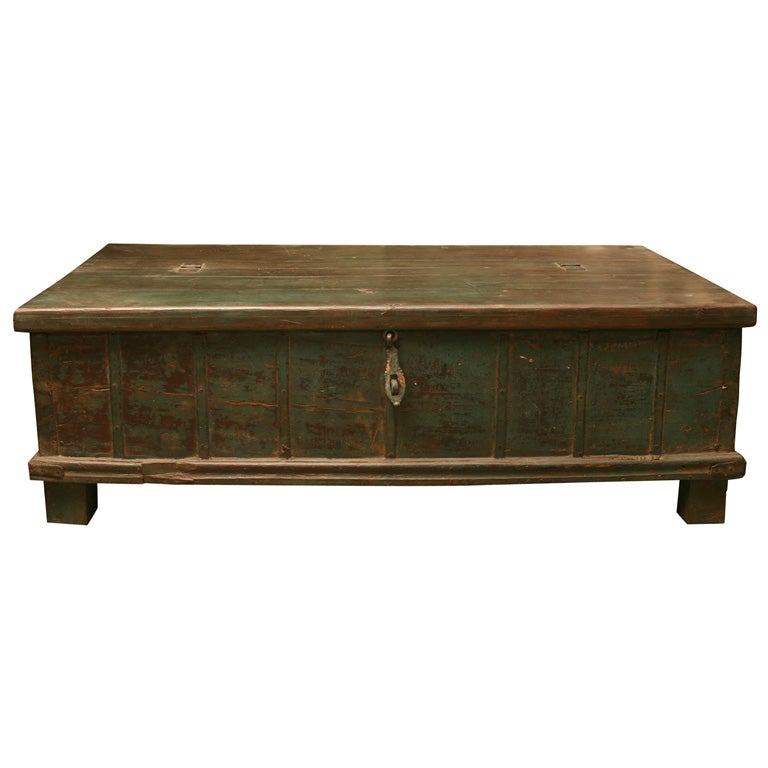 Indian trunk coffee table at 1stdibs Indian trunk coffee table