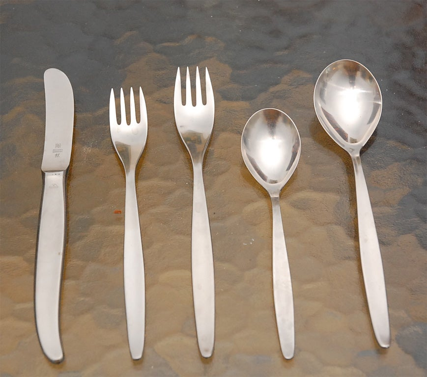 Wmf Quot Cromargan Quot Stainless Steel Flatware Set And Box At