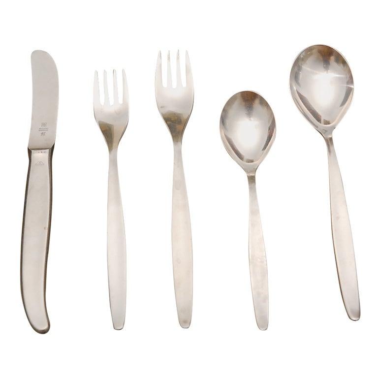 Wmf cromargan stainless steel flatware set and box at 1stdibs - Wmf silverware ...