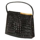 Vintage Rendl Original Black Alligator Evening Bag