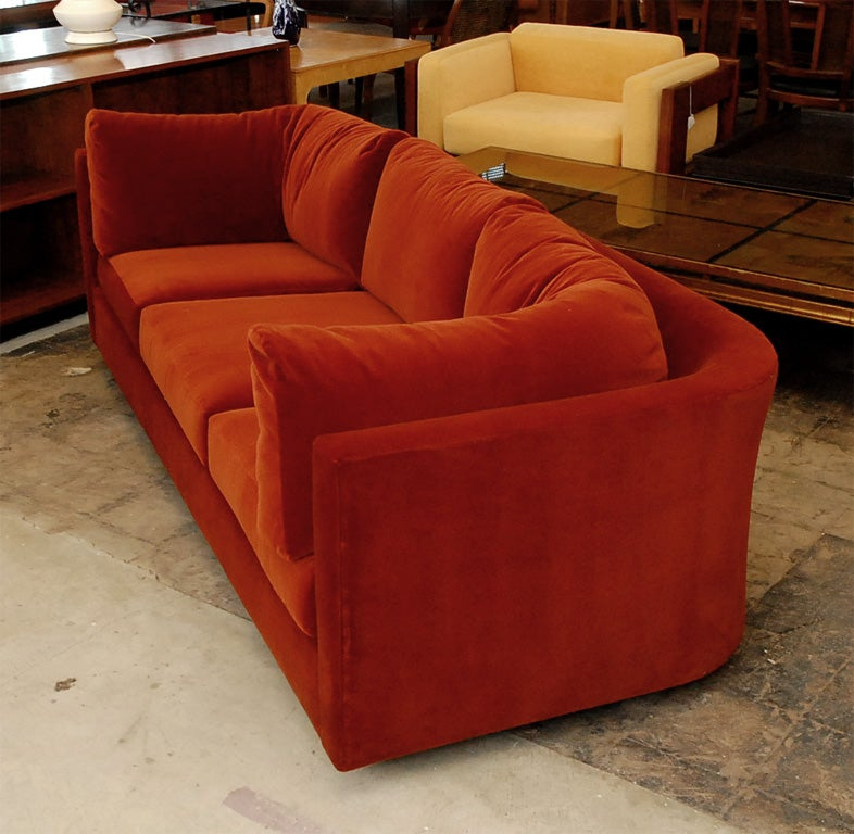 very comfortable mohair velvet sofa at 1stdibs With very comfortable sectional sofa