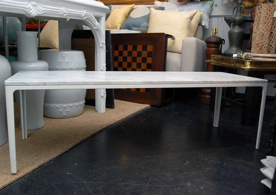 vitra marble top coffee table at 1stdibs. Black Bedroom Furniture Sets. Home Design Ideas