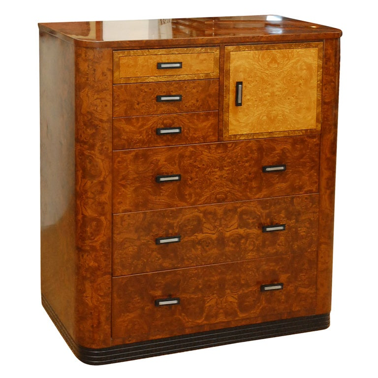 Norman Bel Geddes Metal Dresser For Simons At 1stdibs