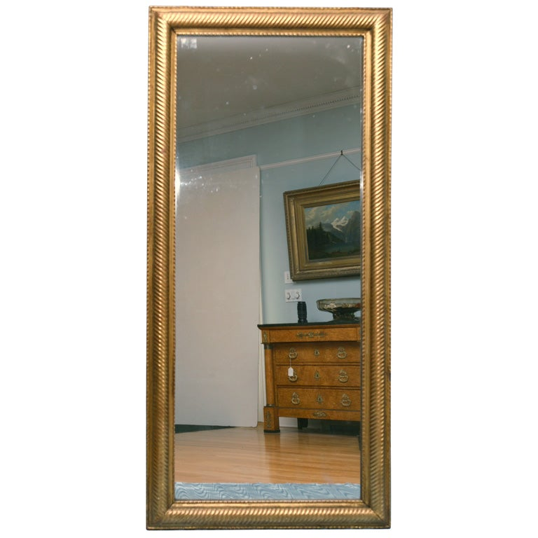 Rectangular 19th Century Gilded Mirror At 1stdibs