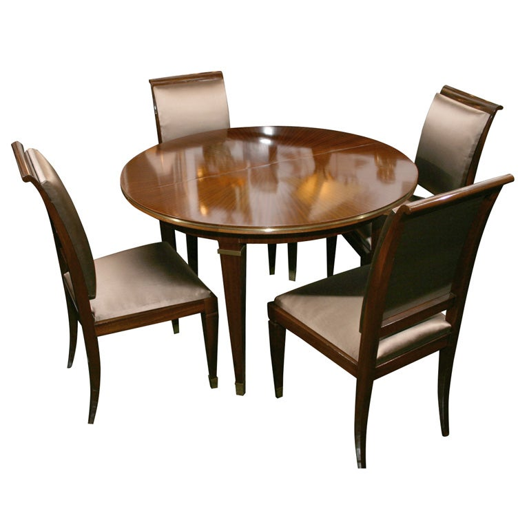 Dining Table With Four Chairs By Dominique French 1940s