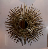 Gilt Decorated Sculptural Sunburst Mirror, American, 1970's image 2