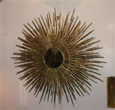 Gilt Decorated Sculptural Sunburst Mirror, American, 1970's image 4