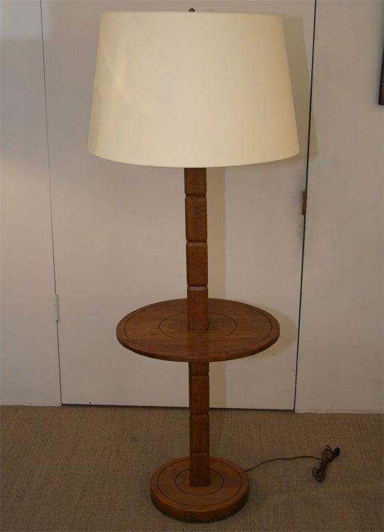 Oak floor lamp table at 1stdibs for Z oak lamp table