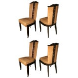 Set of Seven Art Deco Chairs by Christian Krass