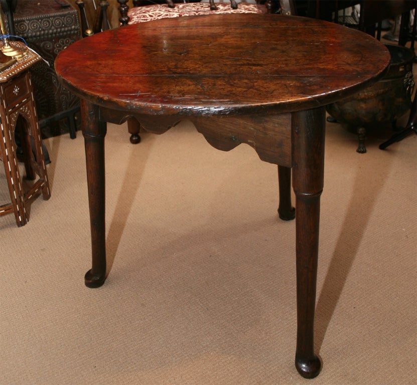 An Exceptional Queen Anne Pad Foot Cricket Table At 1stdibs