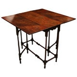 Tailored 18th c.  Mahogany Spider Leg Table of Diminutive Scale