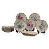 Set of German Fruit Plates and Platter, circa 1918-1922