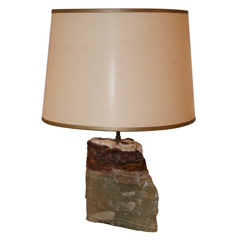 Onyx Block Lamp For Sale