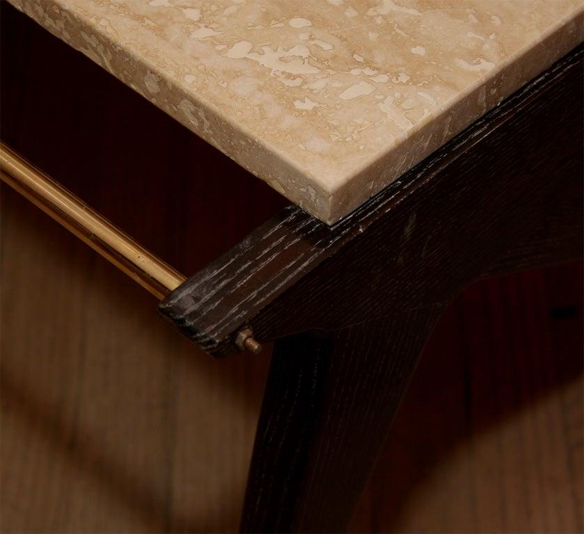 Oak Pair of Rene Gabriel Tables For Sale