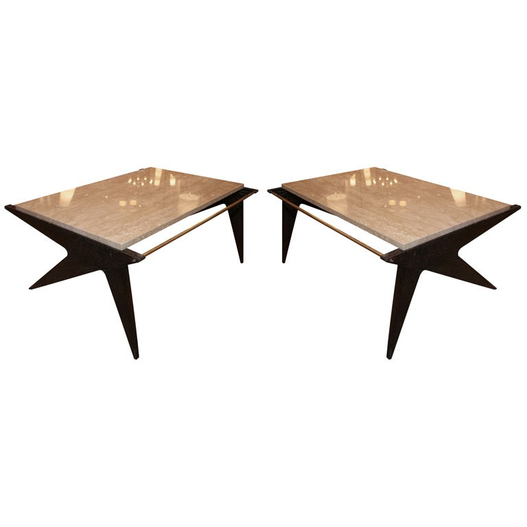 Pair of Rene Gabriel Tables For Sale