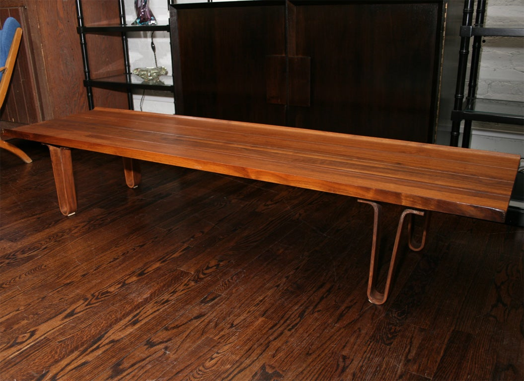 Scandinavian Coffee Table With Bentwood Legs At 1stdibs
