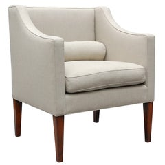 """""""Wilton"""" by Lee Stanton Chair Upholstered in Belgian Linen or Custom Fabric"""