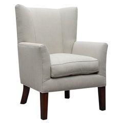 """Ellsworth"" by Lee Stanton Wing Chair Belgium Linen Upholstery or Custom Fabric"