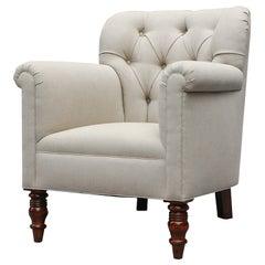 """Geffrey"" by Lee Stanton Chair Upholstered in Belgian Linen or Custom Fabric"