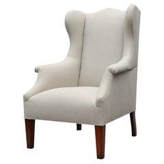 """Somerton"" by Lee Stanton Armchair Upholstered in Belgian Linen or Custom Fabric"