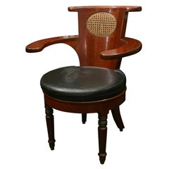 Mid-19th Century Desk Chair with Voyese Style Back