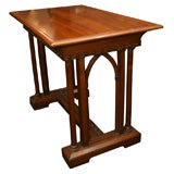 Late 19th Century Side Table with Arched Neo-Gothic Legs