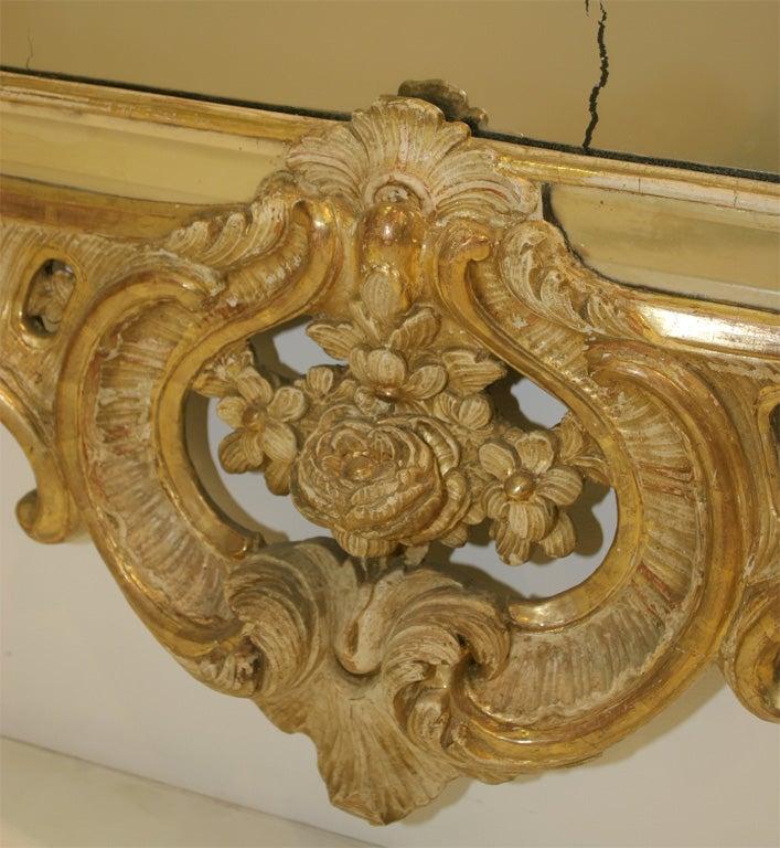 Giltwood Rococo mirror