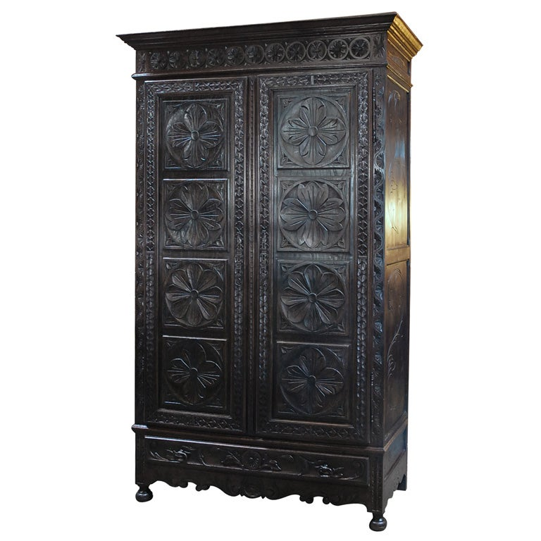 Carved Armoire At 1stdibs