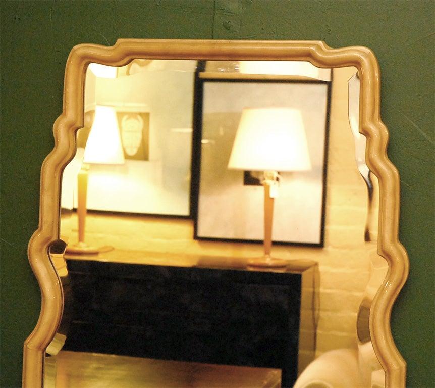 Mid-Century Modern Parchment Freeform Mirror For Sale