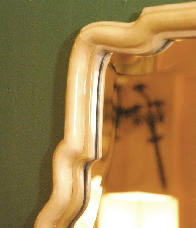 Contemporary Parchment Freeform Mirror For Sale
